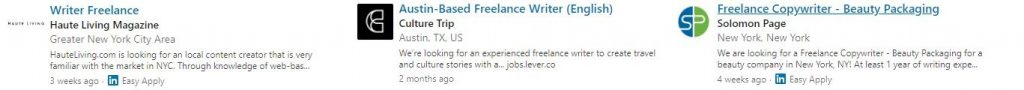 Freelance writer advice